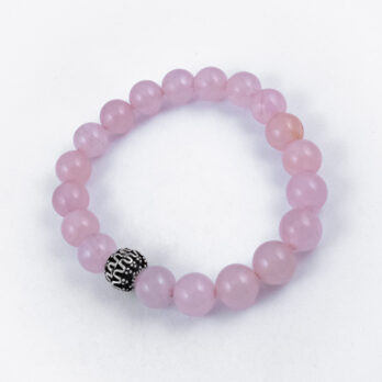 Bracelet élastique Quartz Rose