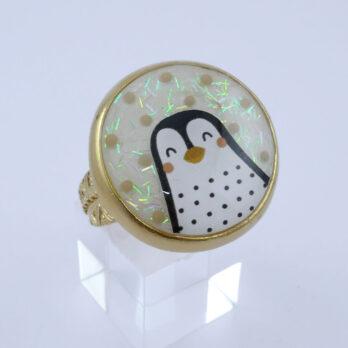 Bague Pingouin réglable
