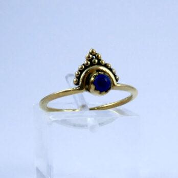 Bague Plaqué Or Lapis Lazuli
