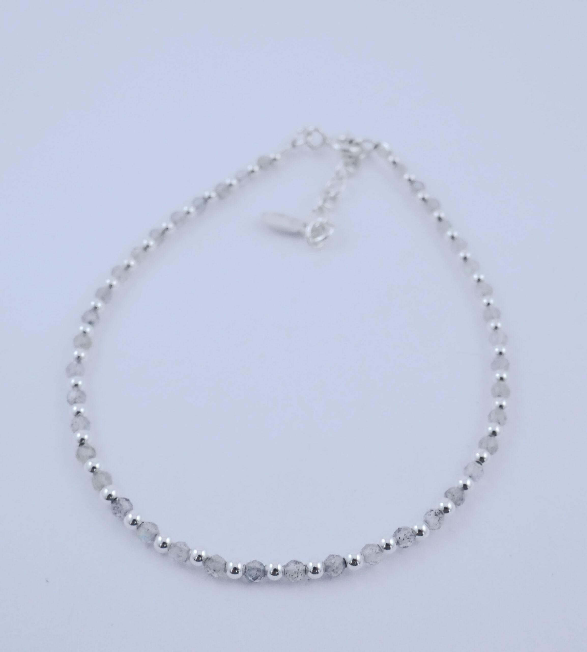 Bracelet fin en Labradorite facettée
