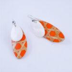 Boucles d'Oreilles Osier Orange