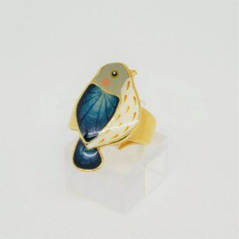 Bague  l'Oiseau Bleu réglable
