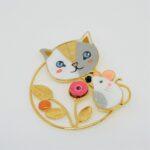 Broche le Chat et la Souris
